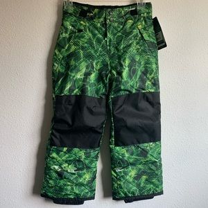 New Youth Snow Pants size Small 6-7 Green/Black